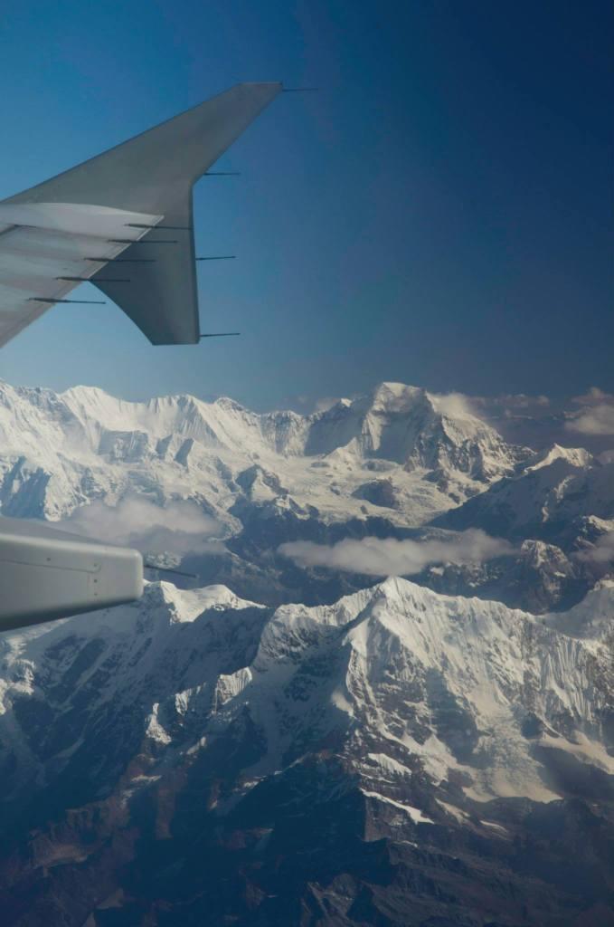 Himalaya visto desde el avión de Paro (Bután) a Katmandú