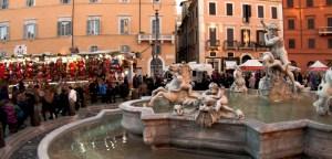 Puestos de Navidad en la Piazza Navona