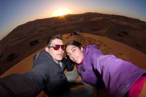 Amaneciendo en el desierto del Sahara