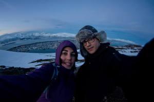 En Tromso, vistas desde el teleférico Fjellheisen
