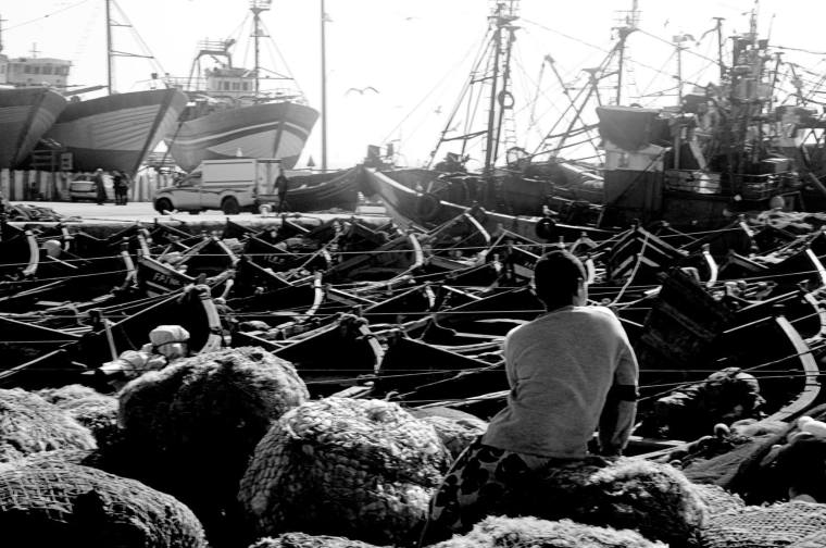 Puerto pesquero de Esauira