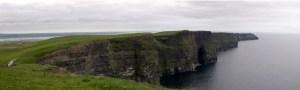 Vista panorámica de los acantilados de Moher en Irlanda