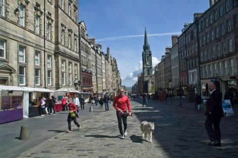 Royal Mile, la arteria principal de Old Town en Edimburgo