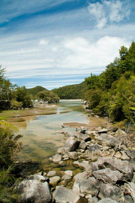 Paisajes en nuestro recorrido a pie por Abel Tasman