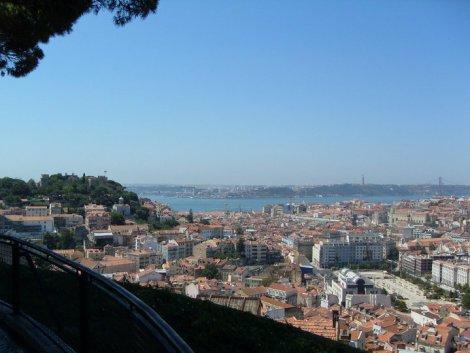 Mirador en el barrio de Gracia, Lisboa