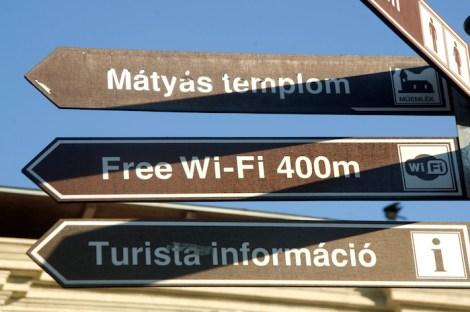 Señal de wifi gratuito en Budapest