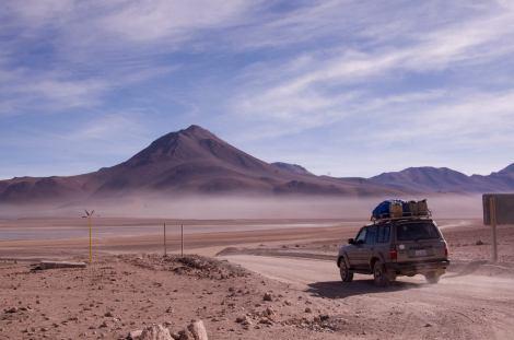 Recorriendo la Reserva Eduardo Avaroa, en Bolivia
