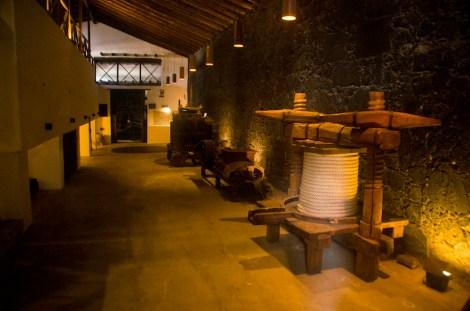 Instalaciones del Museo del Vino en las Bodegas El Grifo