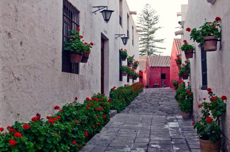 ¿Córdoba? No, el colorido y florido Monasterio de Santa Catalina en Arequipa