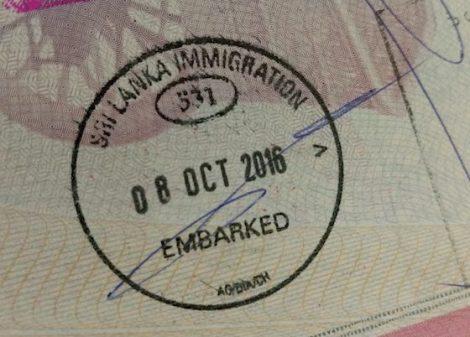 Un bonito sello más para nuestro pasaporte: ¡Sri Lanka!