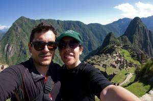 En Machu Picchu, Perú