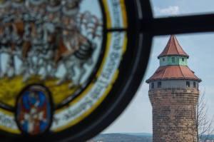 Torre Sinwell, desde el Museo del Castillo Imperial de Nuremberg
