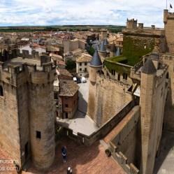 Torres y terrazas del Palacio de Olite