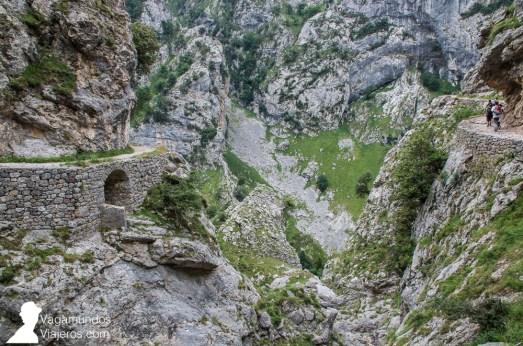 La roca es predominantemente caliza: no en vano estamos en los Picos de Europa