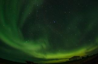Las auroras boreales aparecieron dos noches durante nuestro viaje por Islandia