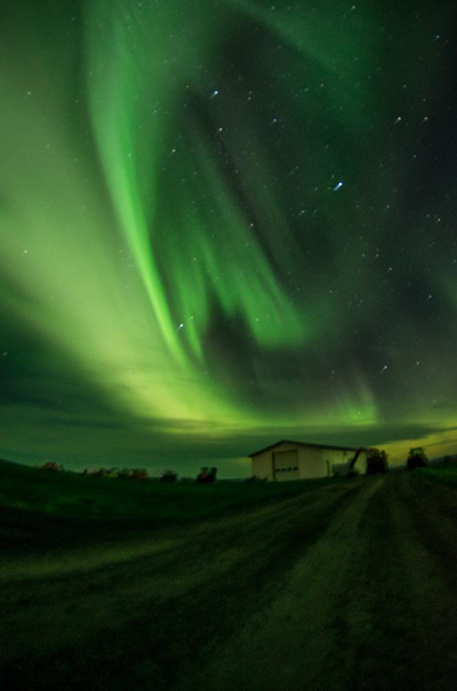 La noche del 31 de agosto al 1 de septiembre las auroras boreales tomaron el cielo de Islandia