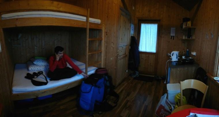 Interior de nuestra cabaña en Lambhus Cottages, cerca de la ciudad de Höfn, en Islandia