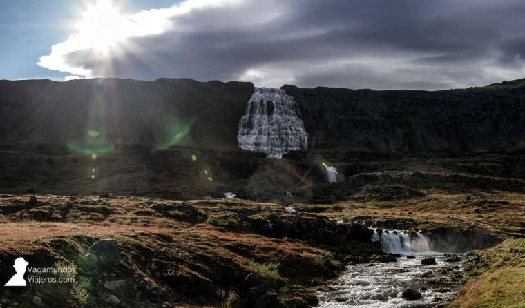 Dynjandi, la primera gran cascada que vimos en Islandia