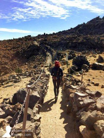 Desde la Rambleta en el Teide salen varias rutas de senderismo