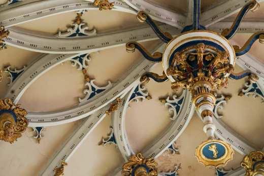 Detalle del techo de una de las capillas de la Colegiata de San Isidoro, en León