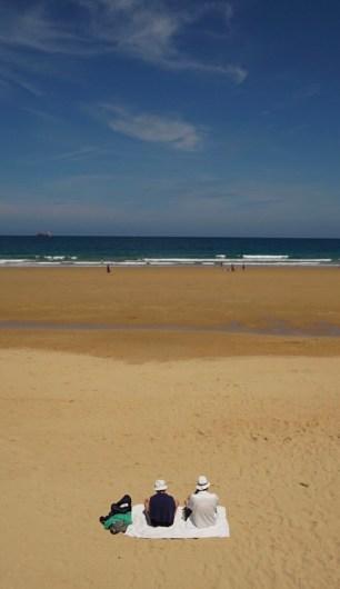 Día de relax en la playa del Sardinero, Santander