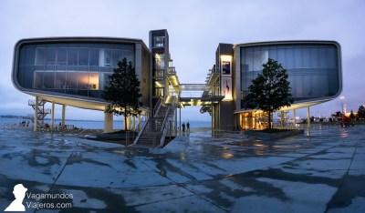 El edificio del Centro Botín en Santader, obra del arquitecto Renzo Piano