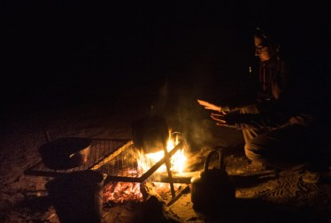 Noche dentro de la Reserva Moremi, en Botswana
