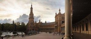 Panorámica de la Plaza de España de SevillaPanorámica de la Plaza de España de Sevilla