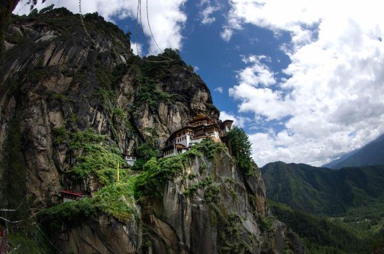 El monasterio del Nido del Tigre en Bután