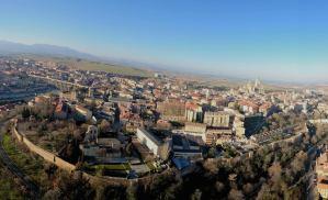 Panorámica de Segovia desde el vuelo en globo