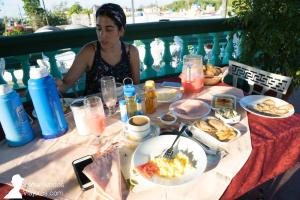 Desayuno en la terraza de Casa Frank, Playa Larga, Cuba