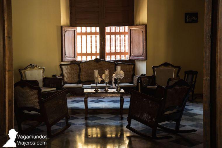 Salón en Villa Trinidad, Cuba