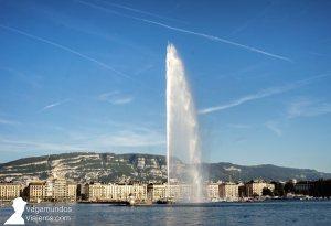 Jet d'eau en el lago Leman, Ginebra