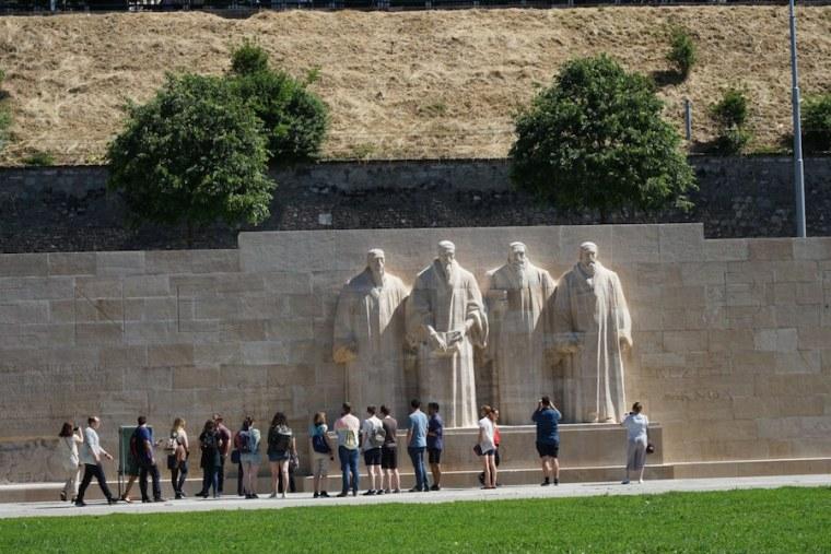 Muro de los Reformadores en el Parque de los Bastiones, Ginebra