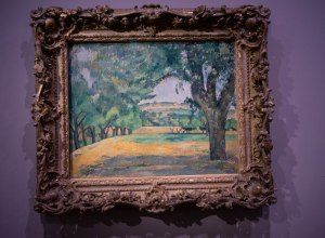Cuadro de Cezanne en la exposición de la Colección Tannhauser en el Hotel du Caumont, Aix en Provence