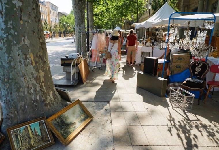 Mercado en Cours de Mirabeu, Aix-en-Provence