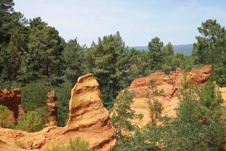 Sendero de Ocres en Roussillon, Francia