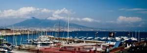 Vistas del Vesubio desde Nápoles