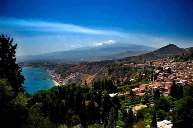 Panorámica desde Taormina, Sicilia
