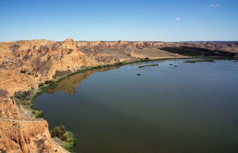 Las barrancas de Burujon, en los meandros del río Tajo, Toledo