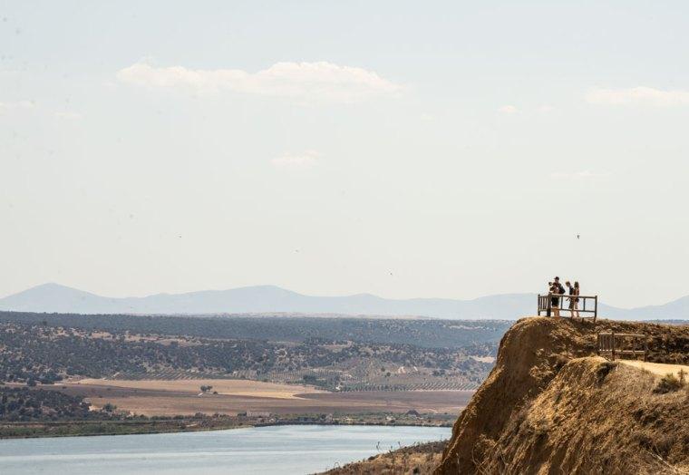 Mirador sobre el río Tajo y las barrancas de Burujón