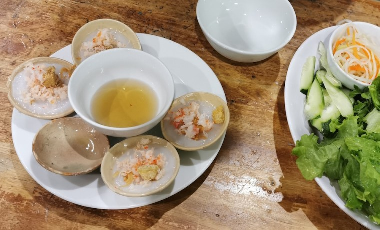 Banh beo en el restaurante Hanh de Hue
