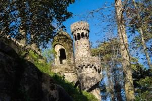 Torres en los jardines de Quinta da Regaleira
