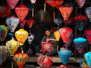 Tienda de farolillos en Hoi An, Vietnam