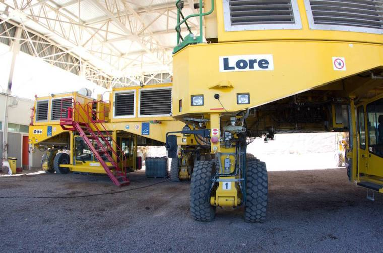 Transportadores usados para mover las antenas de ALMA en el desierto de Atacama