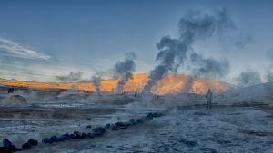 Géiseres del Tatio en el desierto de Atacama, Chile
