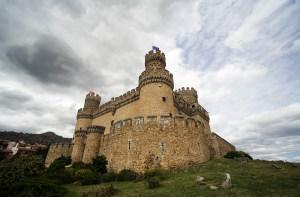 El castillo de Manzanares El Real en Madrid