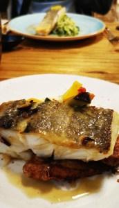 No puede faltar el bacalao en el restaurante Dasos de Ohai Nazaré
