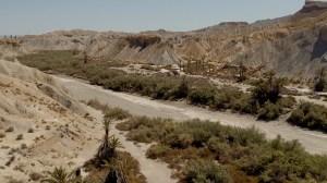El desierto de Tabernas en Almería, a unos 40 kilómetros de Cabo de Gata