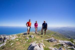 Cima del Pico Pienzu en la sierra del Sueve, Asturias